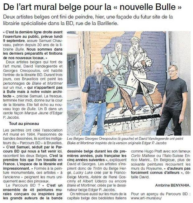 Article paru dans Ouest-France le 30 août 2013