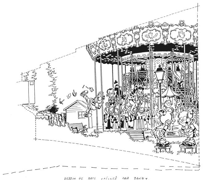 Petit Spirou dessin original de Janry