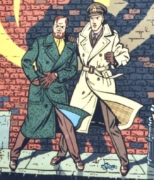Blake et Mortimer' - La Marque Jaune (version 1- fresque disparue)