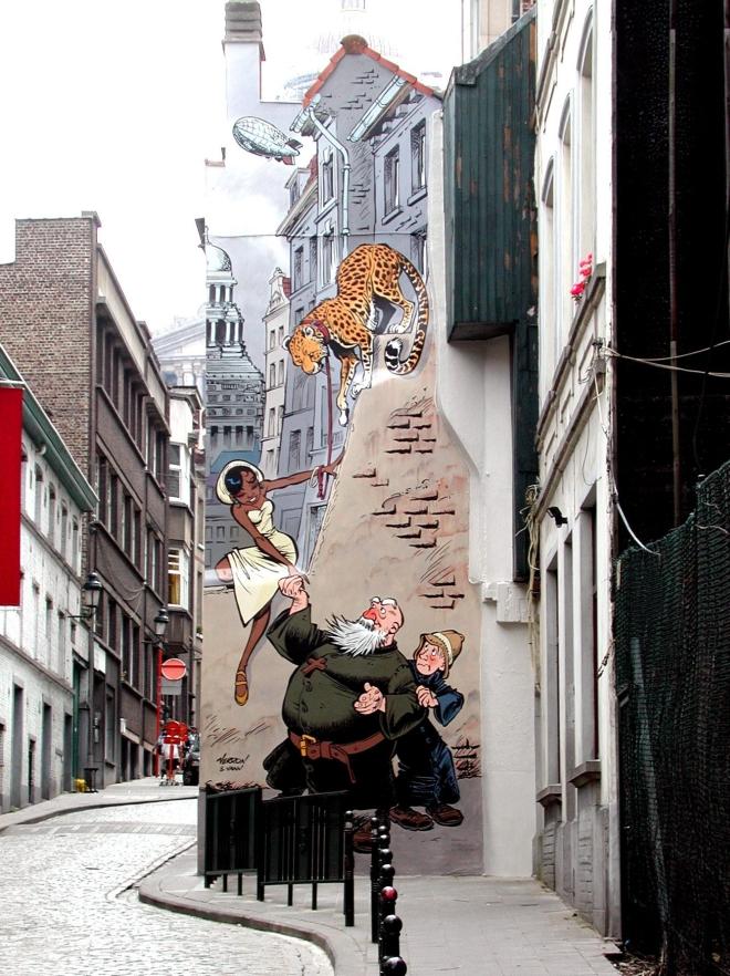 Le mural Odilon Verjus de Verron et Yann à Bruxelles