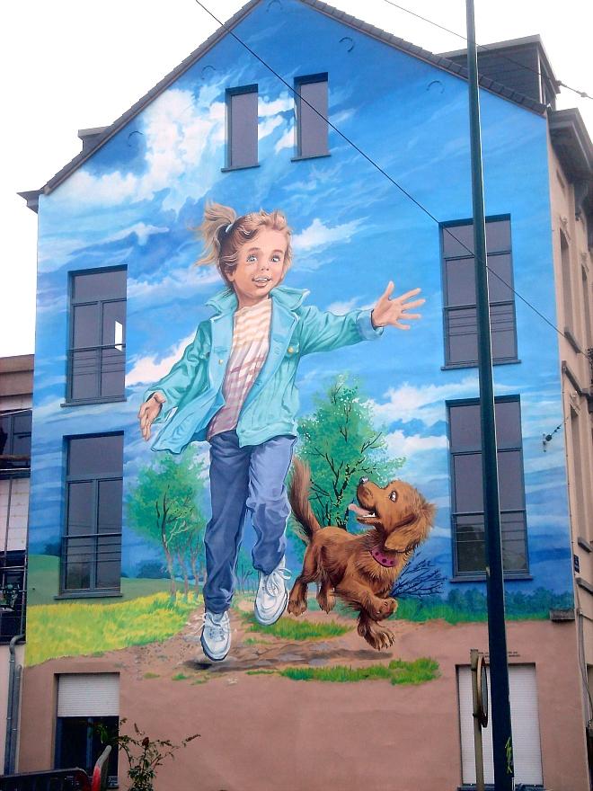 Le mural Martine dans sa version actuelle