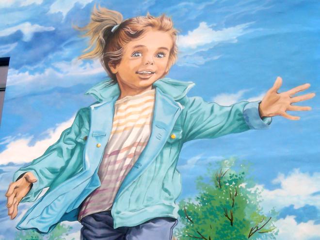 Le mural Martine dans sa version actuelle - détail