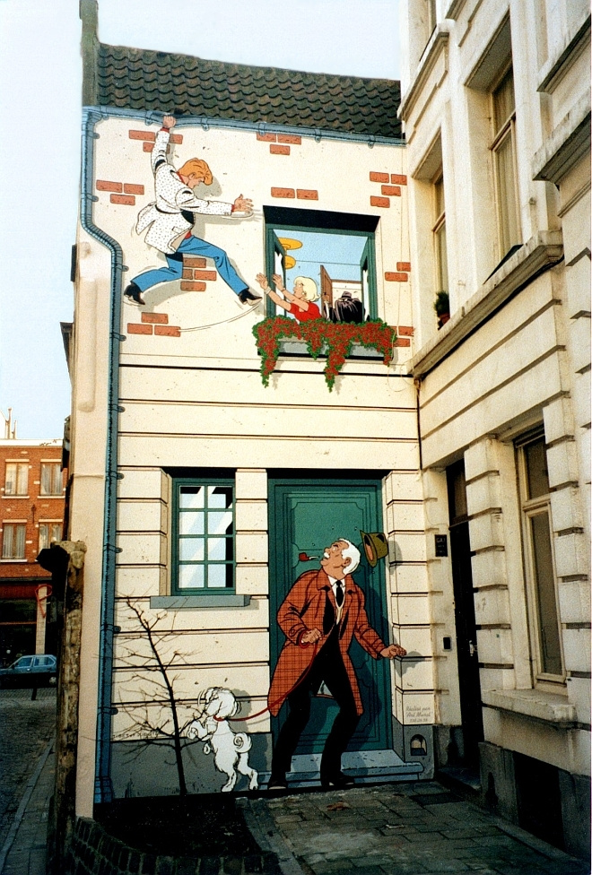 La fresque Ric Hochet telle qu'elle était en 1994