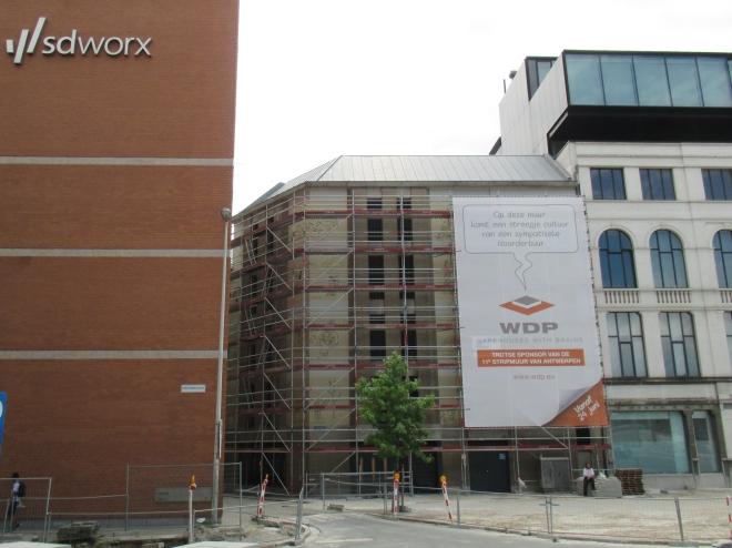 Mur fresque Joost Swarte à Anvers