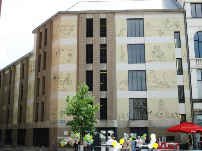 le mural de Joost Swarte à Anvers