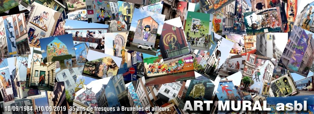10/09/1984 - 10/09/2019 35 ans de fresques à Bruxelles et ailleurs