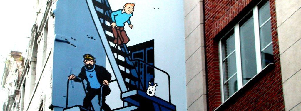 Tintin de Herge - Parcours BD BRUXELLES - 2005