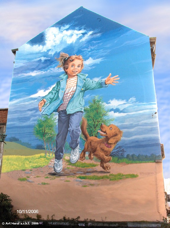 Le mural Martine dans sa version de 2004