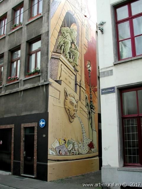 Beeld van Hendrik Conscience van Jan Bosschaert