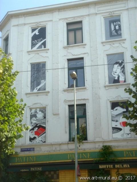 Jazz-muur van Philip Paquet